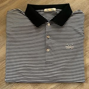 Peter Millar Mercerized Cotton Striped Golf Shirt